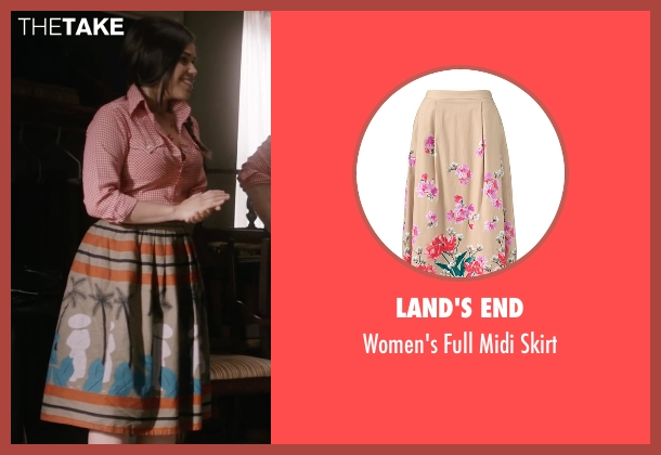 Land's End beige skirt from Special Correspondents seen with America Ferrera (Brigida)