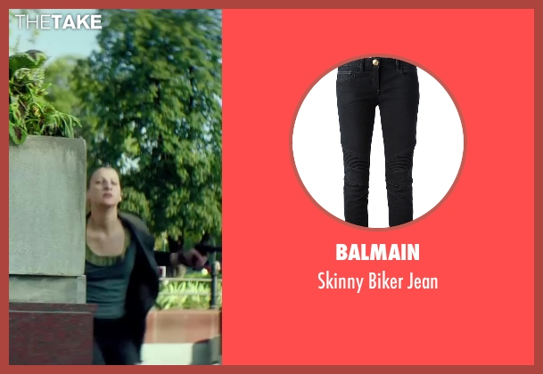 Balmain black jean from The November Man seen with Amila Terzimehic (Alexa)
