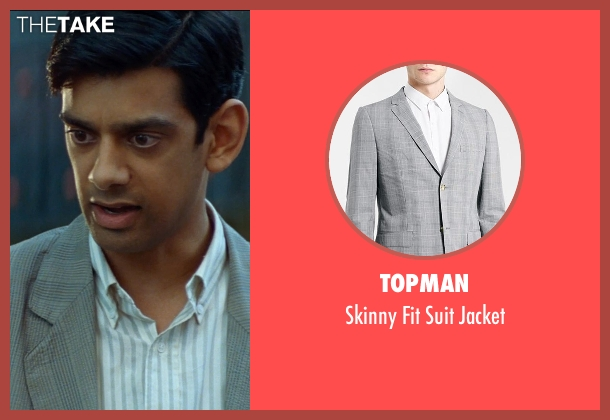 Topman gray jacket from The Hundred-Foot Journey seen with Amit Shah (Mansur)