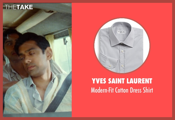 Yves Saint Laurent gray shirt from The Hundred-Foot Journey seen with Amit Shah (Mansur)