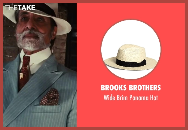 Brooks Brothers beige hat from The Great Gatsby seen with Amitabh Bachchan (Meyer Wolfsheim)