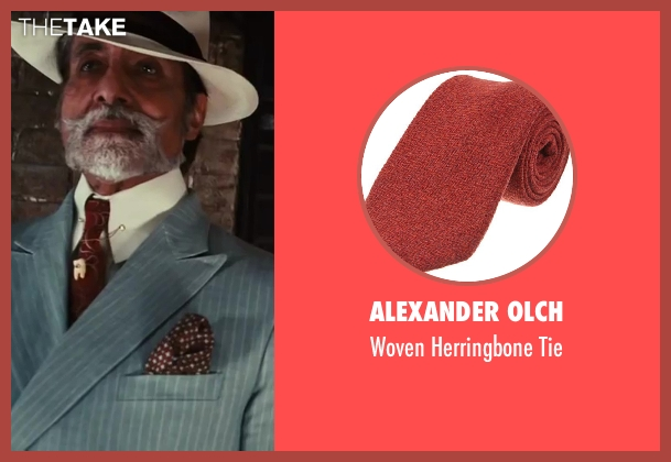 Alexander Olch red tie from The Great Gatsby seen with Amitabh Bachchan (Meyer Wolfsheim)