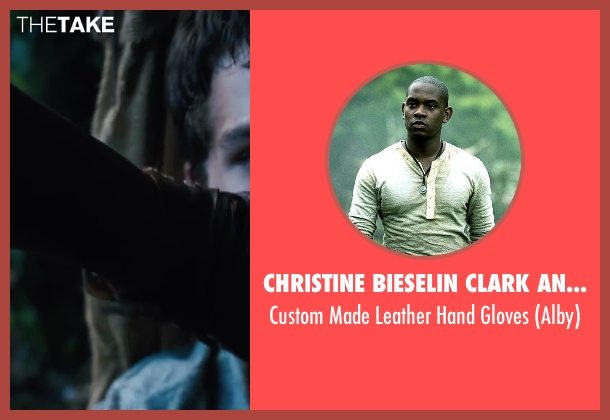 Christine Bieselin Clark and Simonetta Mariano (Costume Designers) gloves from The Maze Runner seen with Aml Ameen (Alby)