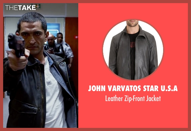John Varvatos Star U.S.A black jacket from Lucy seen with Amr Waked (Unknown Character)