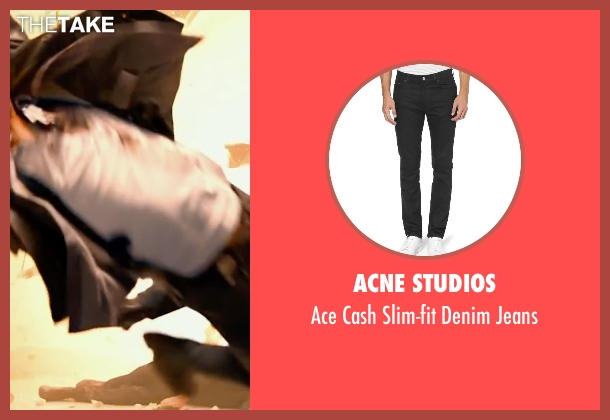 ACNE Studios black jeans from Lucy seen with Amr Waked
