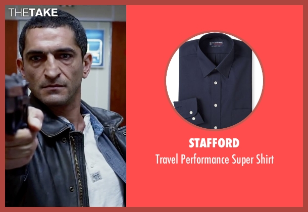 Stafford blue shirt from Lucy seen with Amr Waked (Unknown Character)