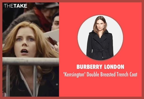 Burberry London black coat from Batman v Superman: Dawn of Justice seen with Amy Adams (Lois Lane)