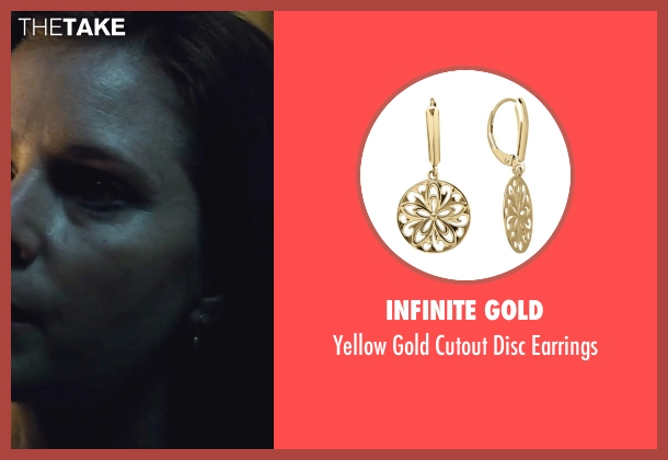 Infinite Gold gold earrings from Batman v Superman: Dawn of Justice seen with Amy Adams (Lois Lane)