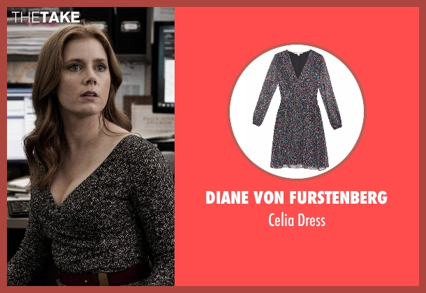 Diane Von Furstenberg gray dress from Batman v Superman: Dawn of Justice seen with Amy Adams (Lois Lane)