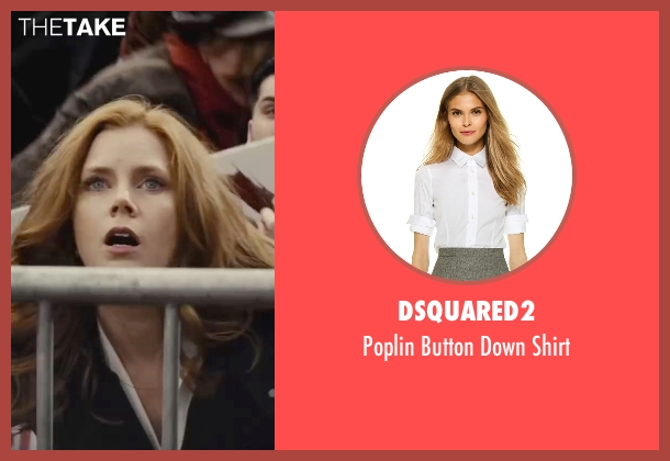 Dsquared2 white shirt from Batman v Superman: Dawn of Justice seen with Amy Adams (Lois Lane)