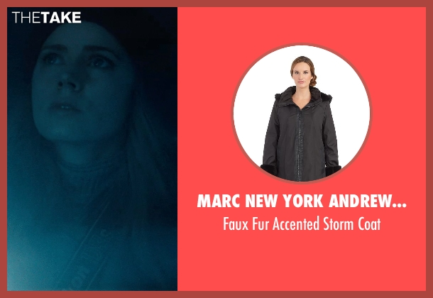 Marc New York Andrew Marc black coat from Man of Steel seen with Amy Adams (Lois Lane)