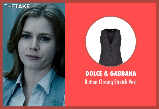 Dolce & Gabbana gray vest from Man of Steel seen with Amy Adams (Lois Lane)