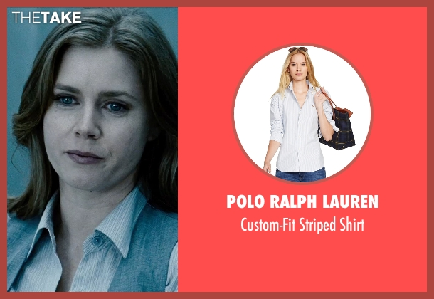 Polo Ralph Lauren white shirt from Man of Steel seen with Amy Adams (Lois Lane)