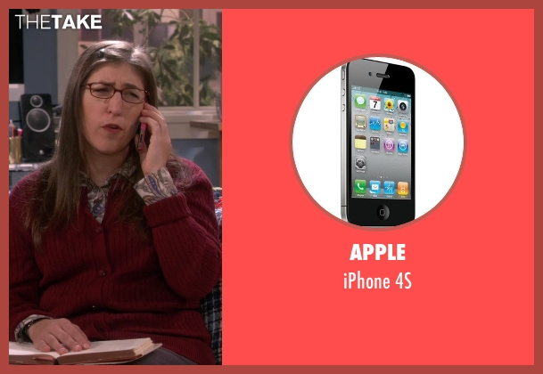 Apple 4s from The Big Bang Theory seen with Amy Farrah Fowler (Mayim Bialik)