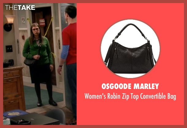 Osgoode Marley black bag from The Big Bang Theory seen with Amy Farrah Fowler (Mayim Bialik)