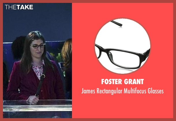 Foster Grant black glasses from The Big Bang Theory seen with Amy Farrah Fowler (Mayim Bialik)