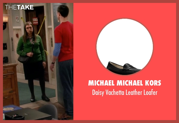Michael Michael Kors black loafer from The Big Bang Theory seen with Amy Farrah Fowler (Mayim Bialik)