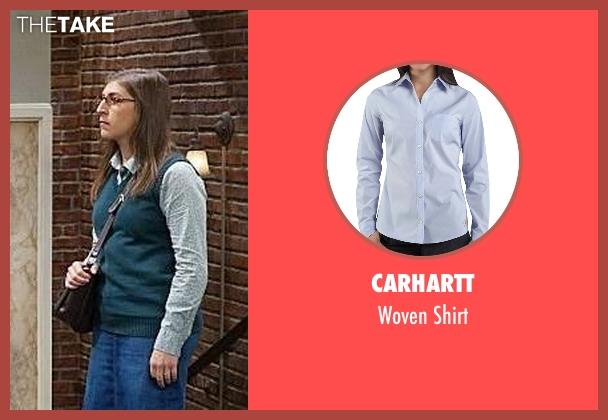 Carhartt blue shirt from The Big Bang Theory seen with Amy Farrah Fowler (Mayim Bialik)