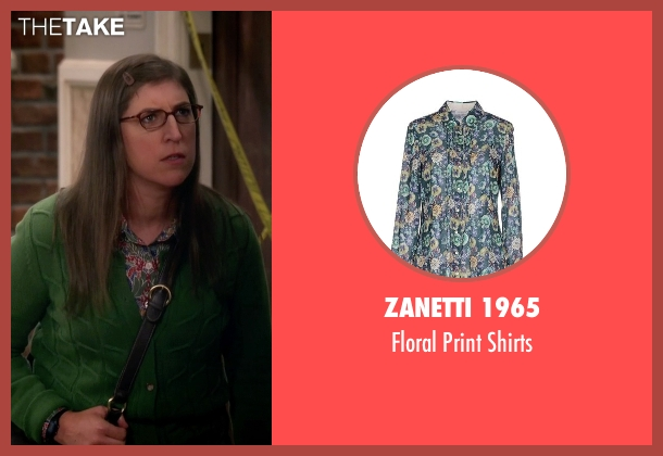 Zanetti 1965 blue shirts from The Big Bang Theory seen with Amy Farrah Fowler (Mayim Bialik)