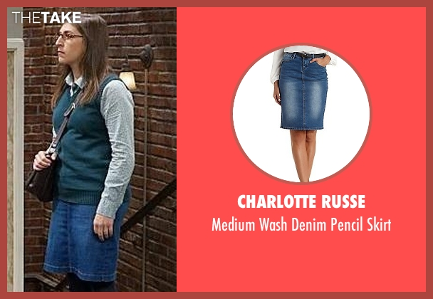 Charlotte Russe blue skirt from The Big Bang Theory seen with Amy Farrah Fowler (Mayim Bialik)