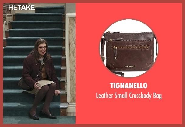 Tignanello brown bag from The Big Bang Theory seen with Amy Farrah Fowler (Mayim Bialik)