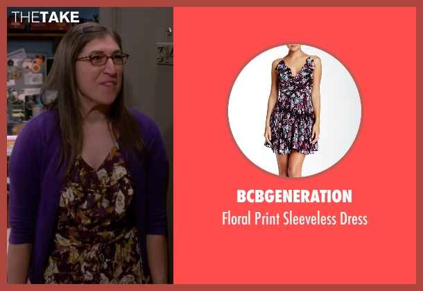 BCBGeneration purple dress from The Big Bang Theory seen with Amy Farrah Fowler (Mayim Bialik)