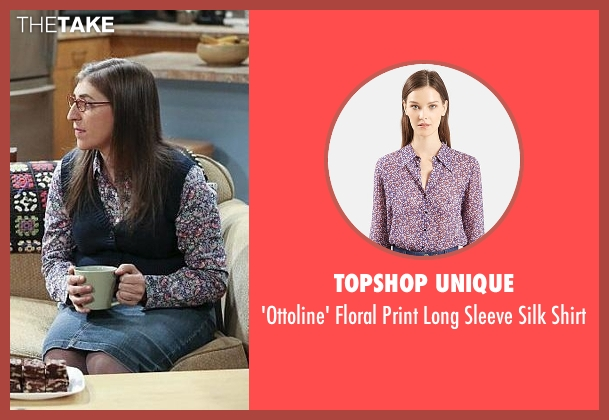 Topshop Unique purple shirt from The Big Bang Theory seen with Amy Farrah Fowler (Mayim Bialik)