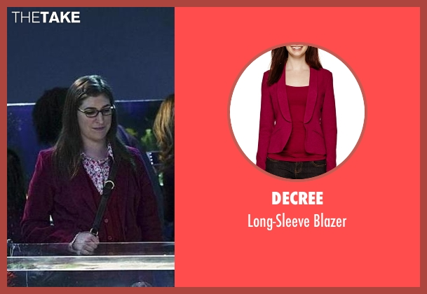Decree red blazer from The Big Bang Theory seen with Amy Farrah Fowler (Mayim Bialik)