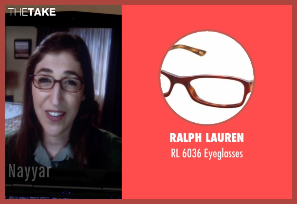 Ralph Lauren red eyeglasses from The Big Bang Theory seen with Amy Farrah Fowler (Mayim Bialik)