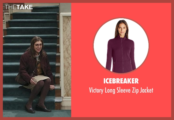 Icebreaker red jacket from The Big Bang Theory seen with Amy Farrah Fowler (Mayim Bialik)