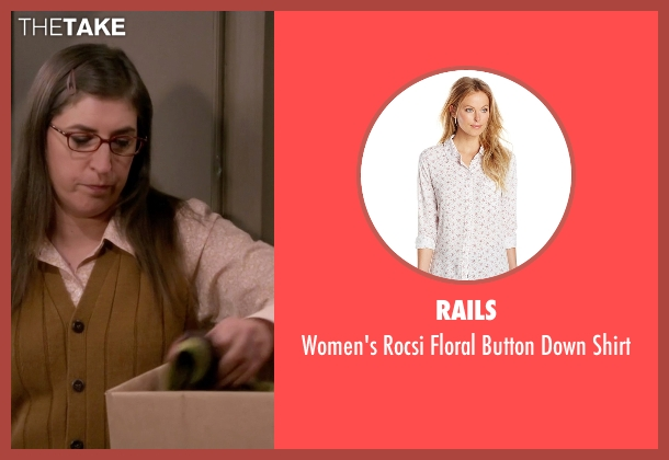 Rails white shirt from The Big Bang Theory seen with Amy Farrah Fowler (Mayim Bialik)