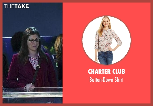 Charter Club white shirt from The Big Bang Theory seen with Amy Farrah Fowler (Mayim Bialik)