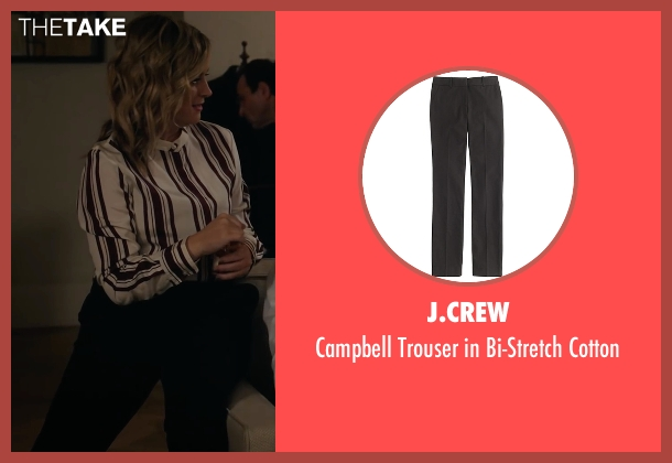 J.Crew black cotton from A Very Murray Christmas seen with Amy Poehler