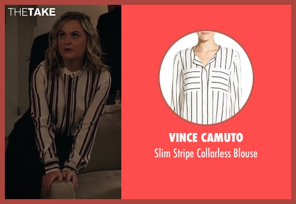 Vince Camuto white blouse from A Very Murray Christmas seen with Amy Poehler