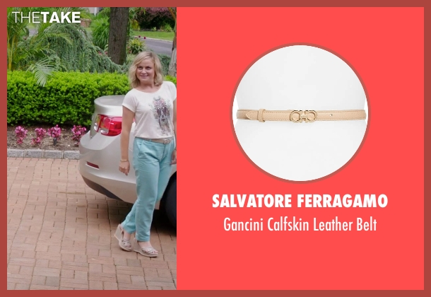 Prada beige belt from Sisters seen with Amy Poehler (Maura Ellis)