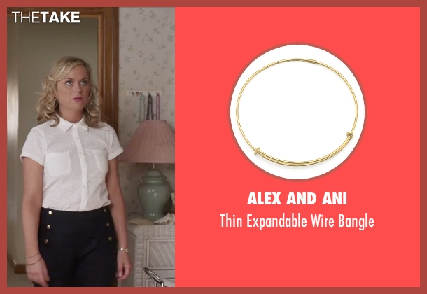 Alex And Ani gold bangle from Sisters seen with Amy Poehler (Maura Ellis)