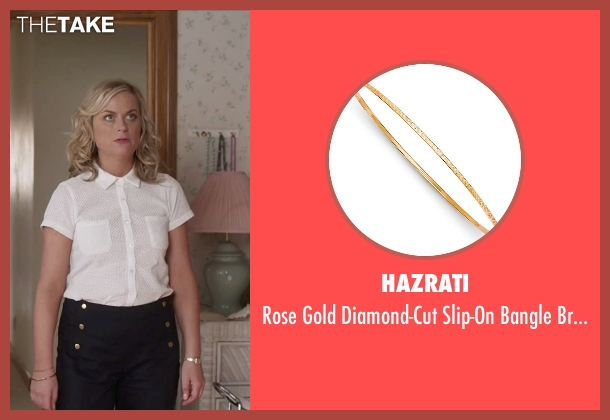 Hazrati gold bracelet from Sisters seen with Amy Poehler (Maura Ellis)