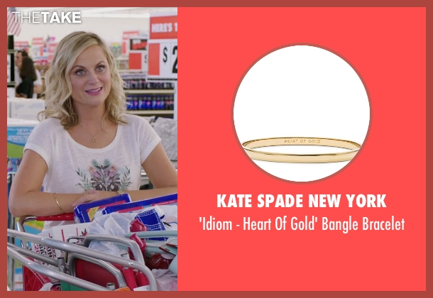 Kate Spade New York gold bracelet from Sisters seen with Amy Poehler (Maura Ellis)
