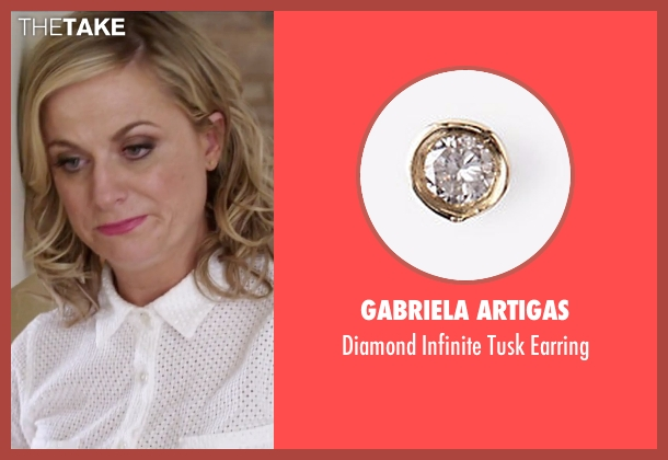 Gabriela Artigas gold earring from Sisters seen with Amy Poehler (Maura Ellis)