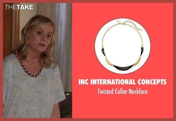 Betsey Johnson gold necklace from Sisters seen with Amy Poehler (Maura Ellis)