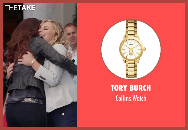 Guess gold watch from Sisters seen with Amy Poehler (Maura Ellis)