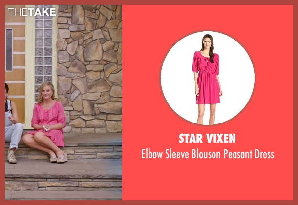 Star Vixen pink dress from Sisters seen with Amy Poehler (Maura Ellis)
