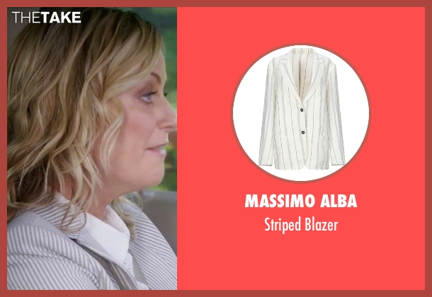 Gold Case white blazer from Sisters seen with Amy Poehler (Maura Ellis)