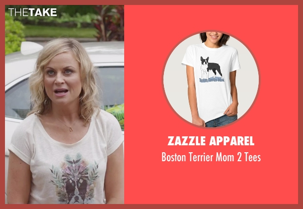 Zazzle Apparel white tees from Sisters seen with Amy Poehler (Maura Ellis)
