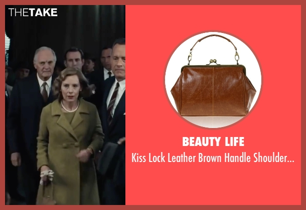 Beauty Life brown bag from Bridge of Spies seen with Amy Ryan (Mary Donovan)