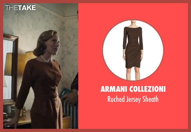 Armani Collezioni brown sheath from Bridge of Spies seen with Amy Ryan (Mary Donovan)