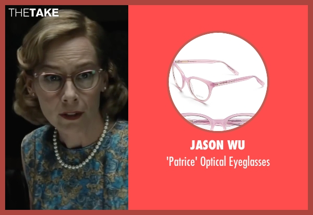 Jason Wu pink eyeglasses from Bridge of Spies seen with Amy Ryan (Mary Donovan)