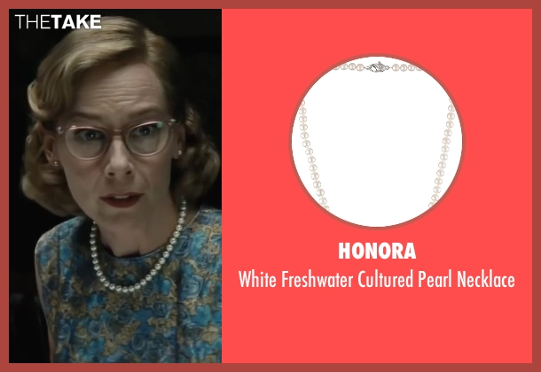 Honora white necklace from Bridge of Spies seen with Amy Ryan (Mary Donovan)