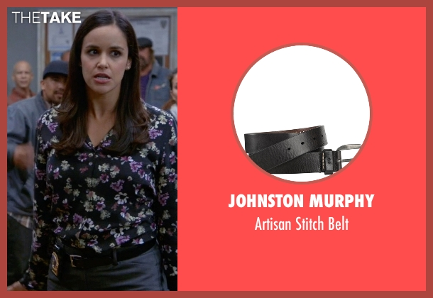 Johnston Murphy black belt from Brooklyn Nine-Nine seen with Amy Santiago  (Melissa Fumero)