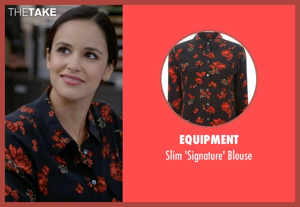 Equipment black blouse from Brooklyn Nine-Nine seen with Amy Santiago  (Melissa Fumero)